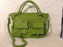 LIKE-NEW Carry-all large crossbody stylish hobo purse in lime green faux leather in 29 Palms, California