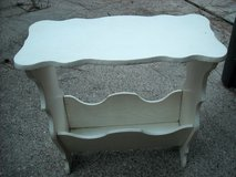Vintage side table with magazine holder in Conroe, Texas