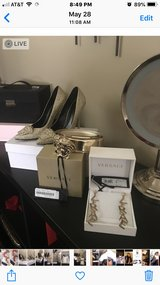 Genuine Versace shoes belt and earrings in Bellaire, Texas