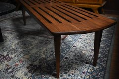 Vintage MCM Wood Slat Coffee Table/Bench in West Orange, New Jersey