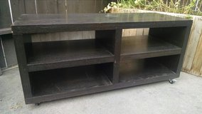 Rolling wood shelf/cubby unit in Vacaville, California