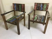 Antique painted chairs in Okinawa, Japan