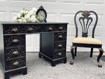 Beautiful vintage Desk vanity with matching chair in DeKalb, Illinois
