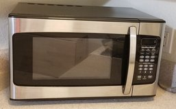 Hamilton Beach 1.1 Cu. Ft. Microwave Oven, Stainless Steel in Vacaville, California