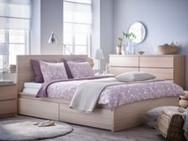 Malm King bed w/mattress IKEA in Travis AFB, California