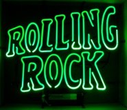 Glass Tubing Rolling Rock Neon Sign in Alamogordo, New Mexico