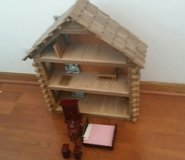 Log Cabin Doll House with Furniture in Bolingbrook, Illinois