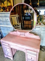 antique pearl pink vanity and chair in Cherry Point, North Carolina