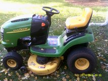 "A-100 John Deer ( USE ) note-NO engine , hood Damage, Tire Good, 42"" Deck Good, Bades Good. in Yorkville, Illinois"