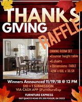 Counter Height Table Raffle in Savannah, Georgia