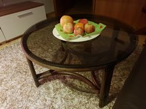 living room table with glass top in Hohenfels, Germany