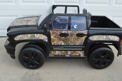 12 volt Chevy Silverado by RollPlay in Black and Camouflaged-2017 in Camp Lejeune, North Carolina