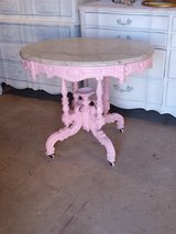 antique marble top ornate entry table in Cherry Point, North Carolina
