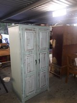 Beautiful shabby chic solid wood cabinet. h63w32w21.5 in The Woodlands, Texas
