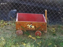Vintage 1960's wooden child's wagon in Barstow, California