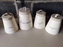kitchen canisters in Lakenheath, UK
