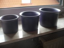 4 blue flower pots in Ramstein, Germany