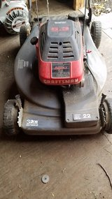 "Craftsman Lawn Mower, 5.3HP w/ bag, 22"" cutting deck, self propelled in Joliet, Illinois"