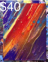 Colorful abstract painting in Oceanside, California