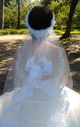 wedding Veil- Ivory w/ white lace in Bellaire, Texas