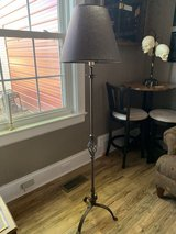 Metal Floor Lamp with Shade in Camp Lejeune, North Carolina