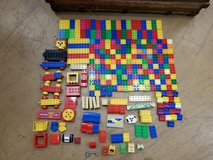 230+ Lego Duplo asst pieces incl cars faces misc in Naperville, Illinois