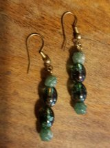 """$3.00 Green Beaded Dangle Earrings Length 2"""" NEW NEW, EXcellent Condition Smoke Free - Ranger & ... in Leesville, Louisiana"""