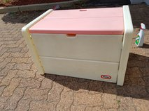 Rare Little Tikes Pink & white toy storage chest in Naperville, Illinois