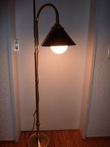 Brass Floor Lamp with metal lamp shade black in Stuttgart, GE