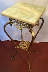 Solid brass fern/plant stand in Kingwood, Texas