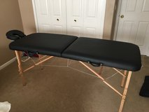 Folding massage table in Yorkville, Illinois