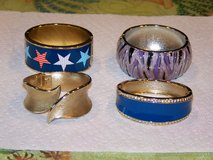 Vintage Beautiful Hinged Bangle Bracelets - 4 different ones in New Lenox, Illinois