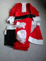 Size Extra Large Santa Suit w/ Glasses, Gloves, Belt, Shoe Coverings Very Good Condition in Joliet, Illinois