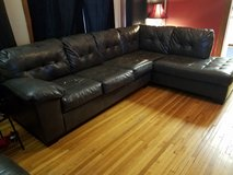 L Shaped couch Gray in Oswego, Illinois