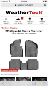 WeatherTech floor mats and trunk liner in Plainfield, Illinois