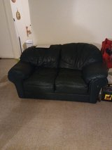 Green Leather Couch in Alamogordo, New Mexico