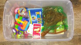 Container of random toys in Baytown, Texas