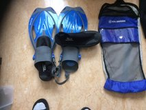 SCUBA FINS and BOOTS, With Carry Bag. in Okinawa, Japan