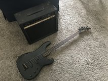 Fernandes Limited Edition Black Bass with Yamaha AR-1500 Practice Amp in Okinawa, Japan