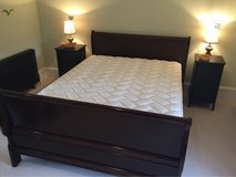 Queen Size Sleigh Bed with Mattress and boxspring.  £300, $390 in Lakenheath, UK