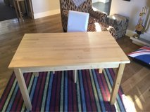 IKEA Table and chair with removable, washable cover. in Lakenheath, UK