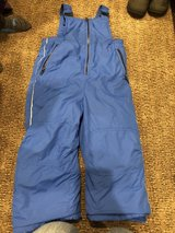 Blue snow pants in Joliet, Illinois