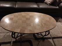 Marble oval coffee table and 2 end tables in Palatine, Illinois