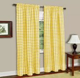 Yellow Buffalo Check Curtains Pair, 42x84 in Fort Campbell, Kentucky
