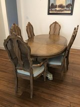 Dining room table, 6 chairs, and hutch just in time for Thanksgiving! in Travis AFB, California