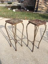 Vintage Rod Iron Outdoor Plant Stands in Joliet, Illinois