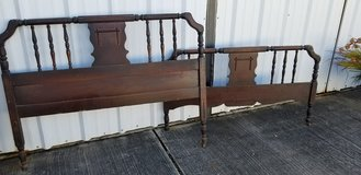 ANTIQUE Spindle Bed Headboard and Footboard in Kingwood, Texas