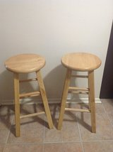Wooden stools in Alexandria, Louisiana
