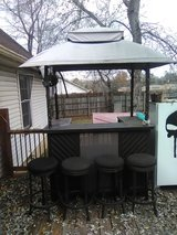 Outside bar and four stools in Fort Campbell, Kentucky