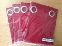 """New Garnet Hill Red Canvas Grommet Curtain Panels 42"""" W X 84"""" L - 4 Panels in Naperville, Illinois"""